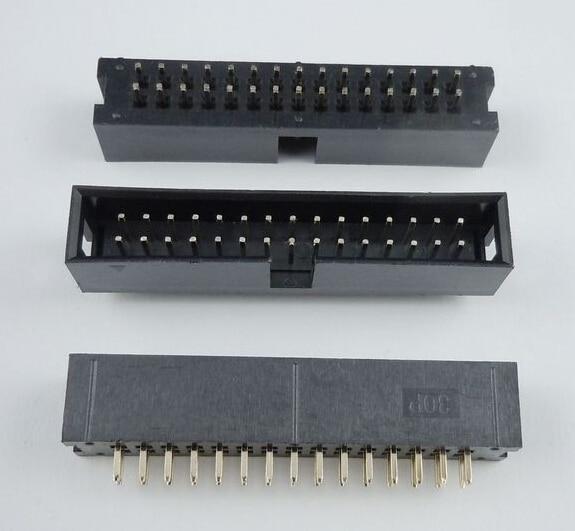 50pcs IDC Box header DC3 DC3-30P 2x15 pins 30P 2.54mm Pitch
