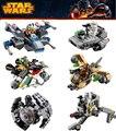 6 unids Star Wars 05011-05016 Bloques de Construcción de Nave Espacial Starwars Clone Wars troopers Naves de Combate Compatible Lepin Microfighters