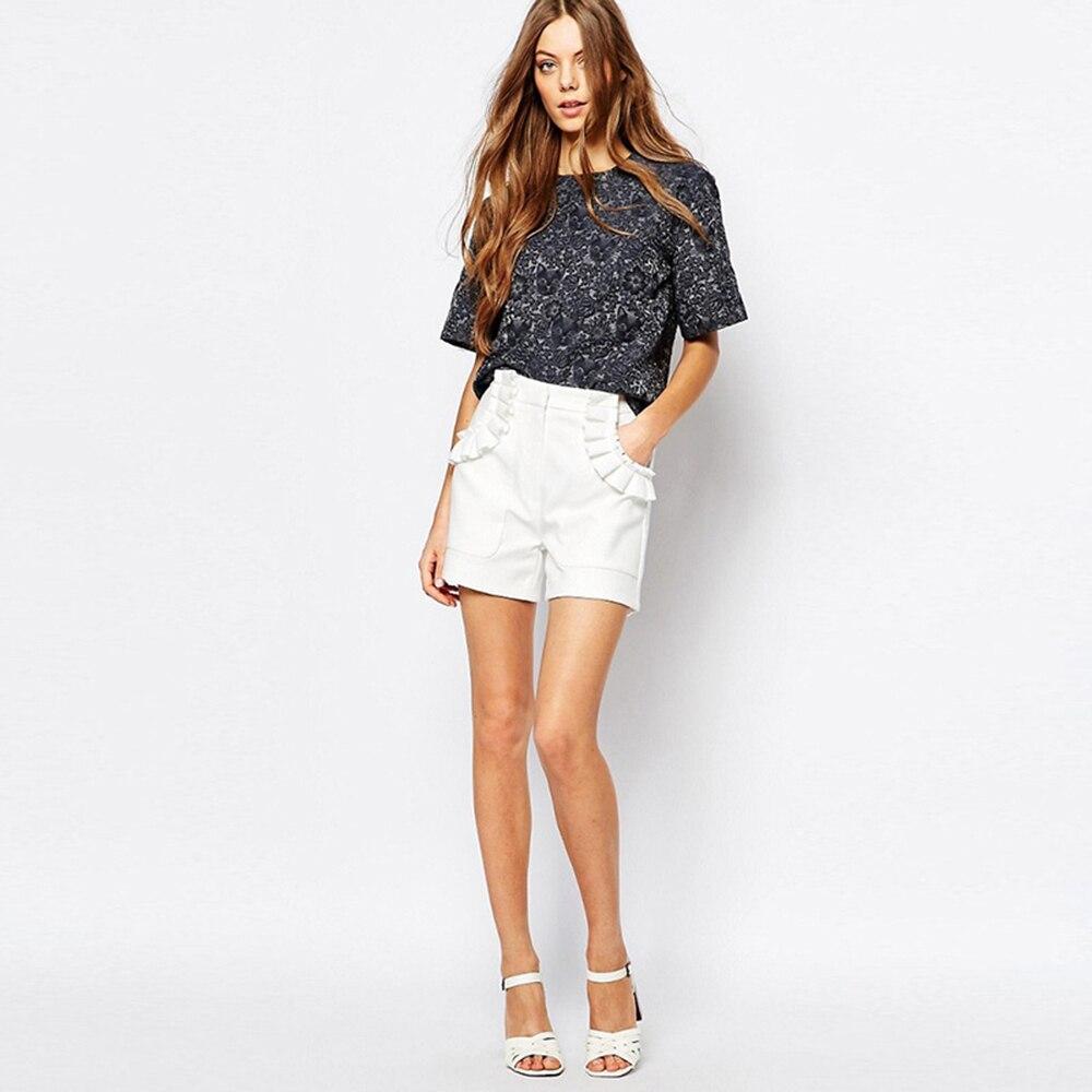 Étais Style Femme Boho Hgh Lâche Vêtements Été Blanc Shorts Mn 60k126 Coréenne White Volants Sexy À Mujer D'été Vntage qxO4Ifw4