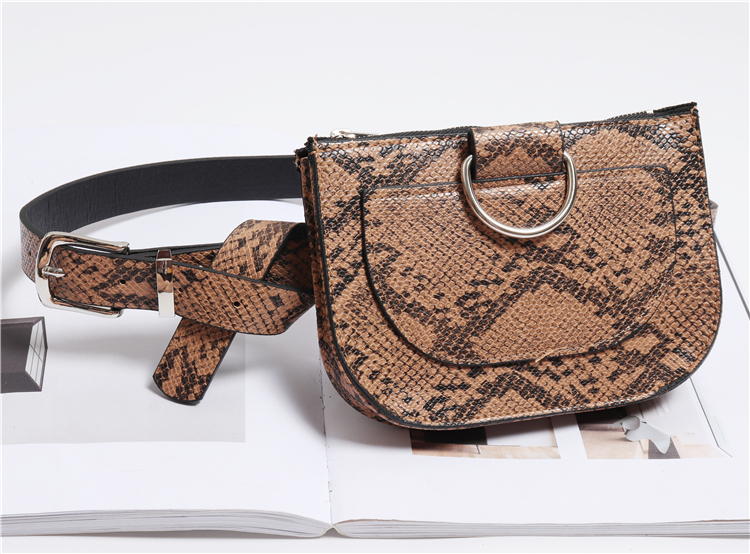 HTB1TxmzPIbpK1RjSZFyq6x qFXaF - Women's Leather Waist Pack | Snake Skin Belt