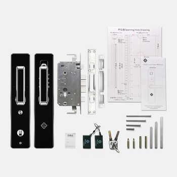 PINEWORLD Biometric Fingerprint Smart Lock,Handle Electronic Door Lock,Fingerprint/RFID/Key Touch Screen Digital Password Lock