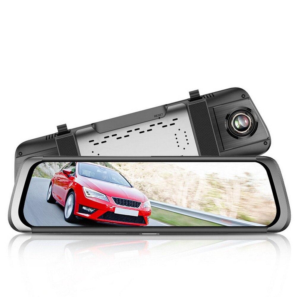 """車 DVR カメラ駆動レコーダー HD 1080 P 10 """"IPS タッチスクリーンデュアルレンズフルスクリーンバックミラーレコーダー車のカメラレコーダー  グループ上の 自動車 &バイク からの DVR/ダッシュカメラ の中 1"""