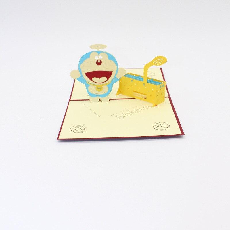 1856 14 De Descuento10 Unidslote Gran Venta De Dibujos Animados Doraemon Con Máquina Del Tiempo Tarjeta De Invitación Fiesta Cumpleaños