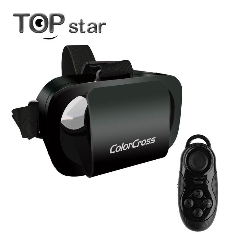 ce4daf923c3b 2016 Colorcross III VR Virtual Reality 3D Glasses Google Cardboard for  4.7-6 inch Phone + Bluetooth controller
