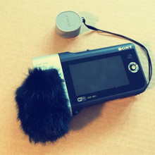 Deat cat Outdoor artifical fur wind muff windscreen shield for Sony HDR-MV1windscreen
