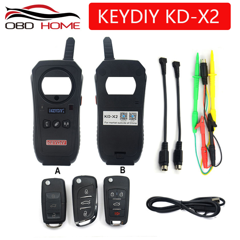 OBD2 keydiy Car Diagnostic Tool KD-X2 kd X2 Remote Maker Unlocker with Free ID48 96bit Transponder Copy Function English Version(China)