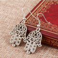 2015 new product-Vintage hollow design The hand of Fatima drop earring punk ear drop Creative jewelry The Islamists love