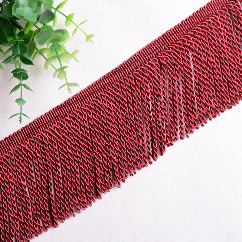 XWL 12M lot 10CM Wide Curtain Lace Trims Sofa Stage Valance Decor Curtain Accessories Rope Tassel