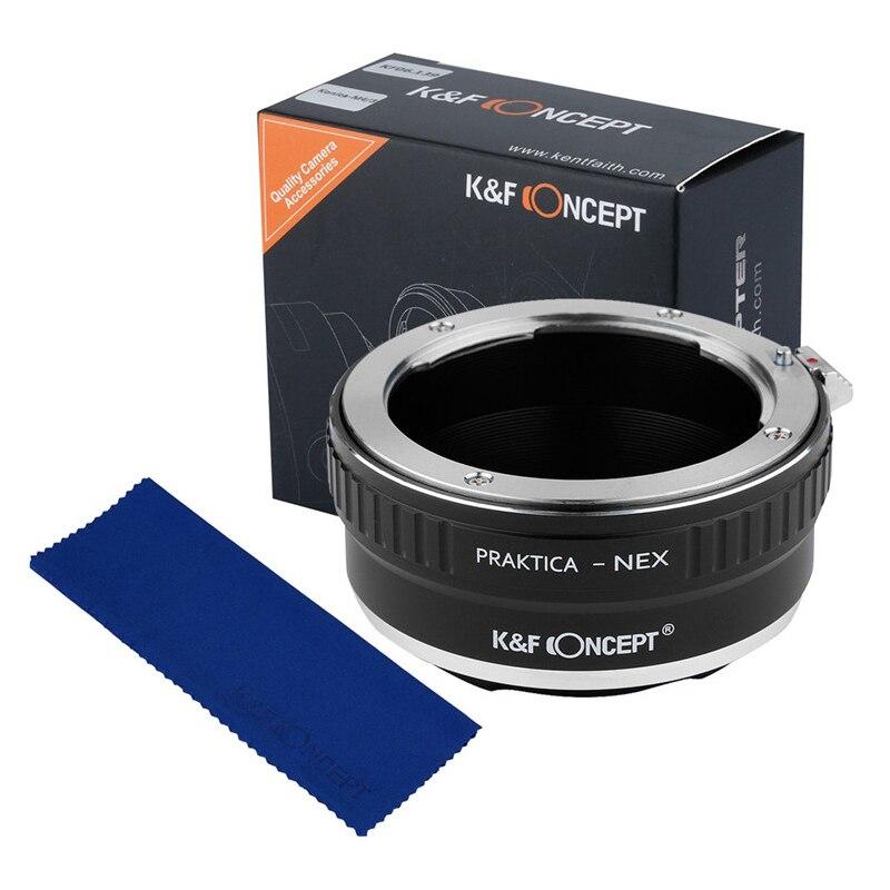 Prix pour K & f concept lens mount adapter pour praktica pb lens pour sony nex-3 nex-5 nex-vg10 avec cap adaptateur
