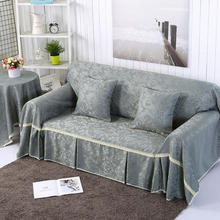 High quality Solid color sofa cover 100% Polyester 1/2/3/4 seat simple sofa case Slip-resistant Sofa Cover Customized Sofa Cover