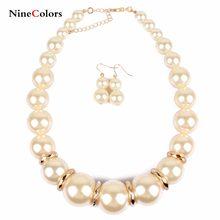 26fc8374a9a4 Europa y los Estados Unidos pasarela gran perla párrafo corto collar de moda  exagerada collar XL311