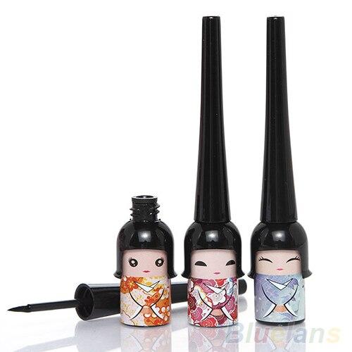 Черный Водонепроницаемый Симпатичные Куклы Жидкая Подводка Для Глаз Pen Косметическая Eye Liner 4DYV