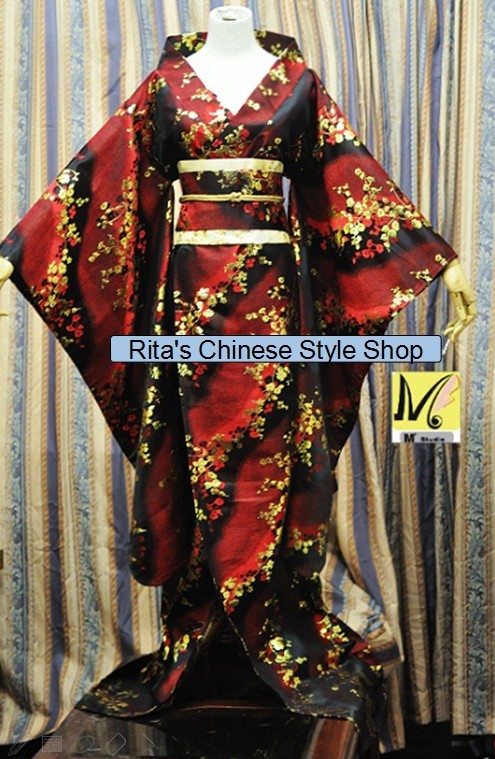 Sa Jin Zhen Xiu Traditional Japanese Kimono Multicolor Customization Women s Costume