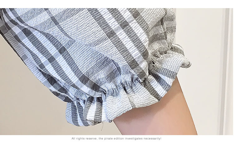 2018 Summer Style Fashion Sweet High Waist Wide Leg With Belt Jumpsuits Elegant Macacao Feminino Temperament Plaid Romper 15