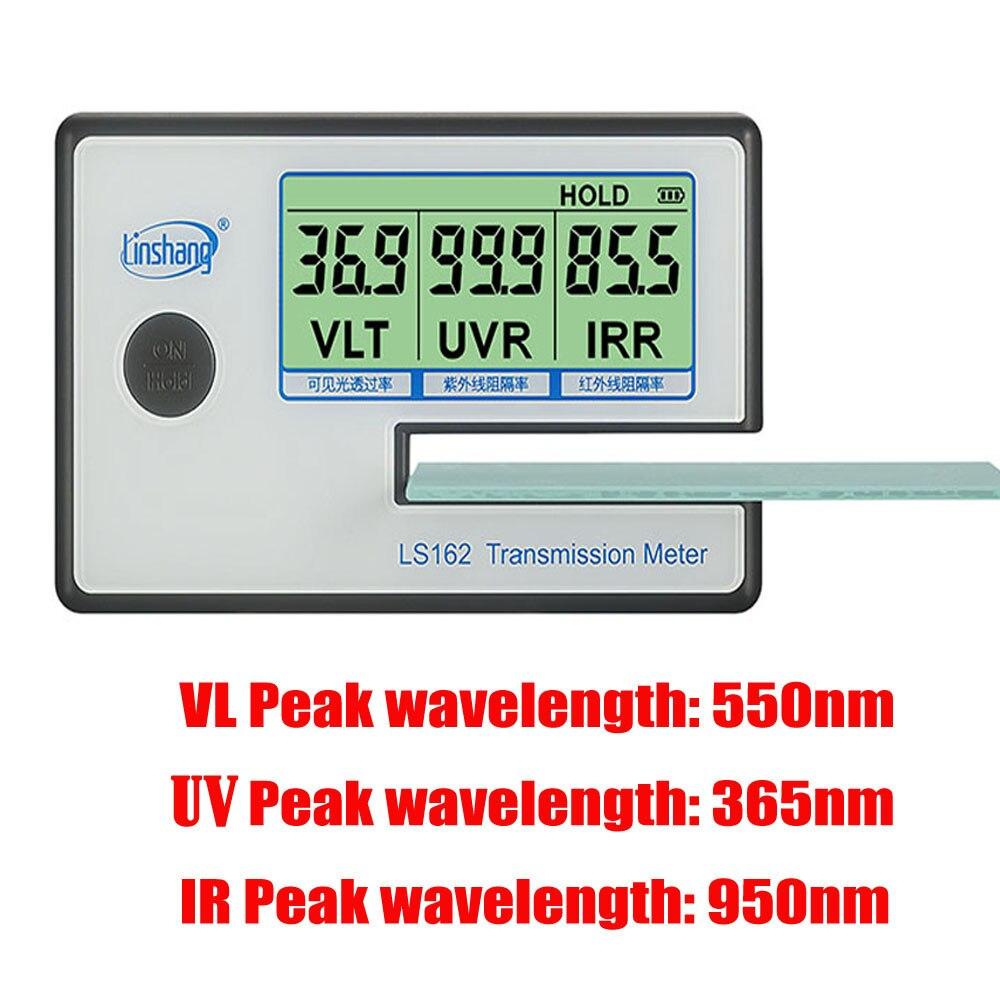 LS162 Window Tint Meter Solar Film Transmission uv Tint mete Filmed Glass Tester spectrometer glass film