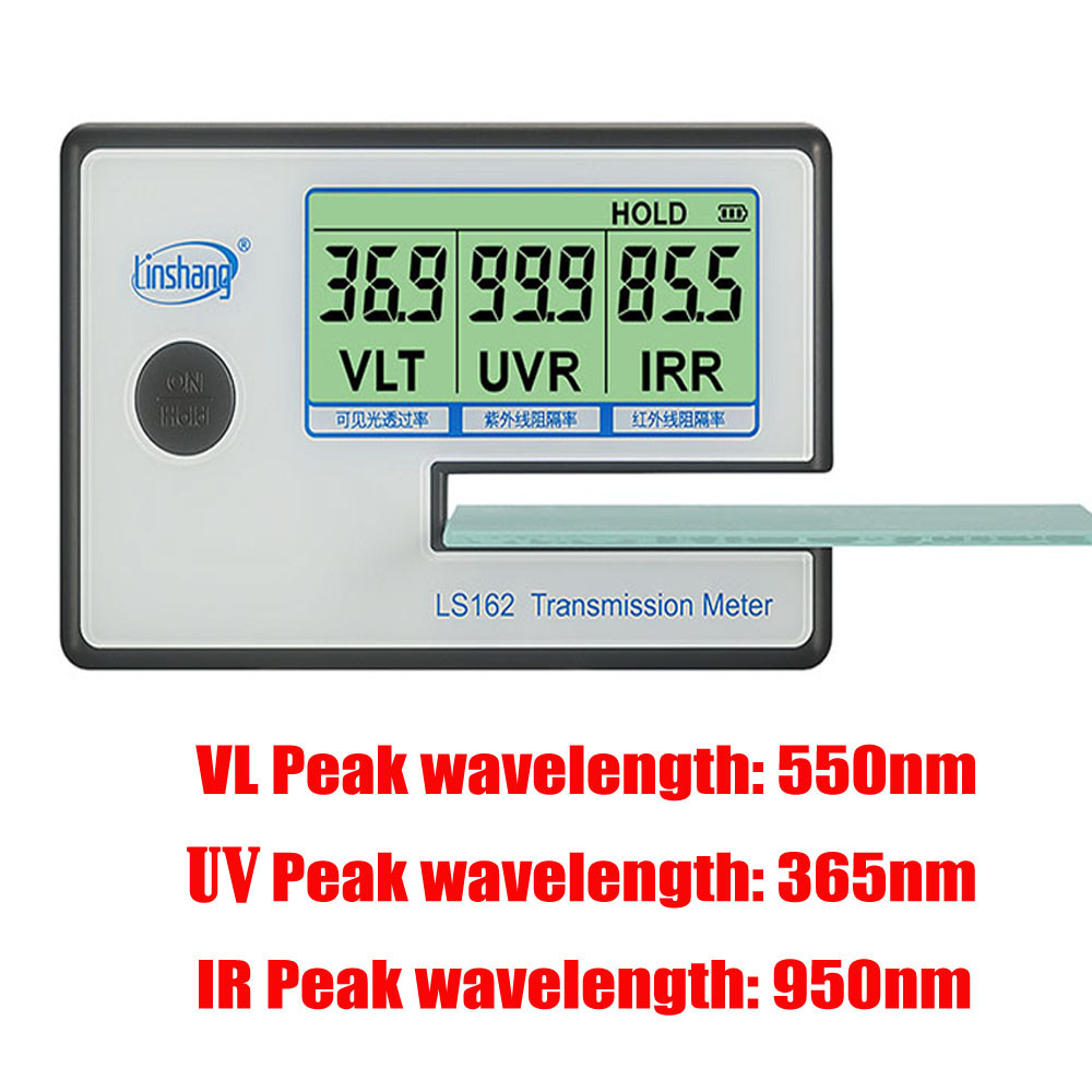 LS162 Window Tint Meter Solar Film Transmission Meter,UV IR mete Filmed Glass Tester ,VLT transmittance meter ,glass film tester