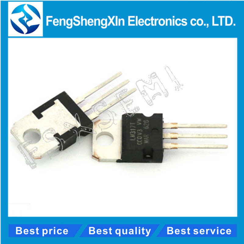 10pcs/lot  LM317T LM317 TO-220 Adjustable Voltage Regulator