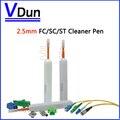 20 шт. 800 + Очищает Волоконно-оптический Очиститель Ручка Для SC FC и ST 2.5 мм Разъем Волокна Cleaner Инструменты, VD-CPB20