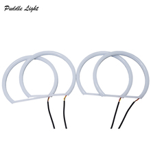 Car-styling 1 SET 2x (100mm+120mm) White Halo Cotton Light car smd LED Angel Eyes For BMW E92 Non Projector Auto Lighting