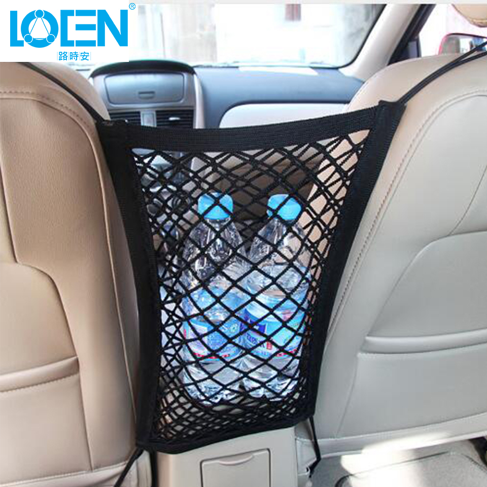 New Black Car Storage Net Organizer Pockets 33X23cm Car Elastic Seat Bag Mesh Truck Holder Hooks Hanging For Tools Mobile Phone waterfall spout bathroom sink faucet with double handles nickel brushed finished