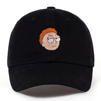 100 Cotton US Animation Rick And Morty Dad Hat Morty Cap Adjustable Baseball Cap Casquette High