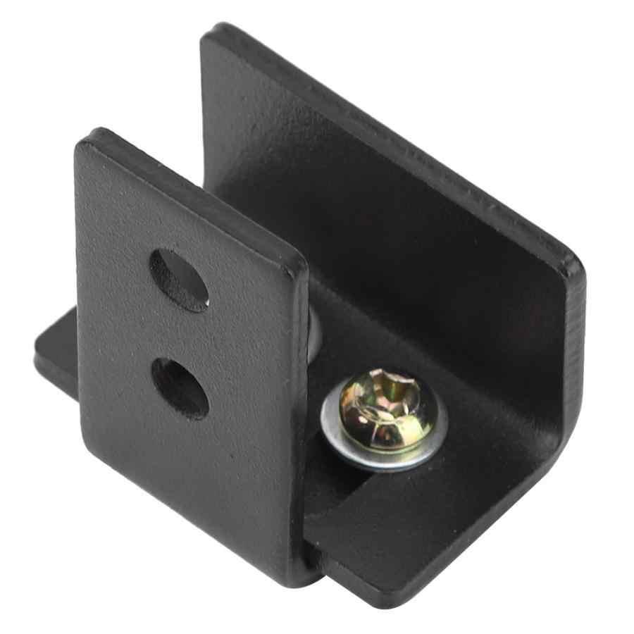 שחור 45*27*48mm פחמן פלדה אסם דלת חומרה נע הזזה תחתון רצפת קיר מדריכי עם ברגים