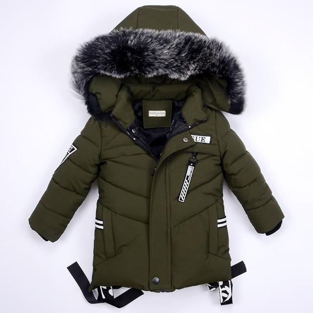 Зимние куртки для мальчиков, теплое пальто, детская одежда, зимний комбинезон, верхняя одежда и пальто, детская одежда, меховая куртка с капюшоном, детские парки