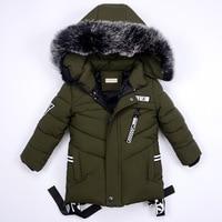 Winter Jackets for Boys Warm Coat Kids Clothes Snowsuit Outerwear & Coats Children Clothing Baby Fur Hooded Jacket Infant Parkas