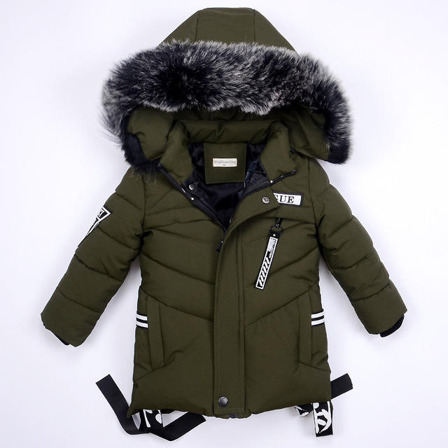 Winter Jackets for Boys Warm Coat Kids Clothes Snowsuit Outerwear & Coats Children Clothing Baby Fur Hooded Jacket Infant Parkas