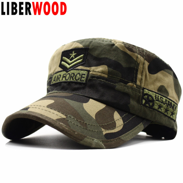 3659ffc0 LIBERWOOD New Tactical Hats embroidered Air Force Baseball caps for Men  Cotton camouflage ARMY cap hats