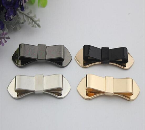Free shipping (10 PCS/lot) 4 color high quality beautiful bow sandal shoes button clip DIY manual metal Shoe Decorations 20pcs lot free shipping 5 design diy hair accessory bow flowers pearl buttons alloy rhinestone button bt05