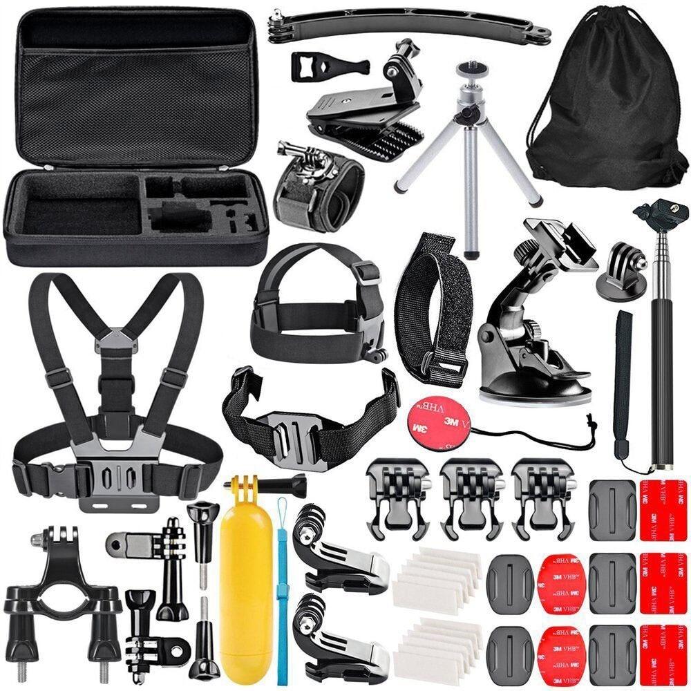 SOOCOO 4K Action Camera Accessories 50 in 1 Gopro Bundles with Chest Harness/Tripod for Xiaomi Yi 4k SJCAM SJ4000 WIFI Eken