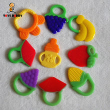 cute fruit food milk bottle shaped teether soft silicone non-toxic baby teething toys molar toys teeth training appease gifts(China)