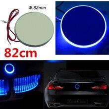 1 шт синий блестящий 82 мм эмблема светодиодный свет, фон для BMW 3 5 7 серии X3 X5 X6 Z4
