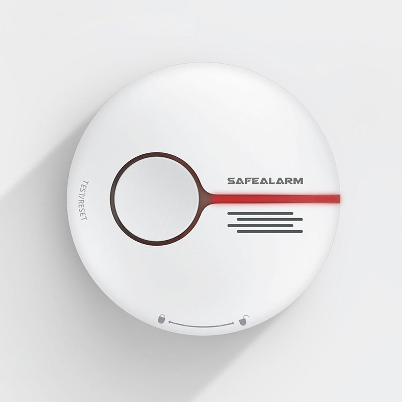 Home Security Standalone Smoke Detector Low-consumption Strobe Buzzer Inside Long Life Battery Fire Sensor EN 54-7 Ceiling Alarm