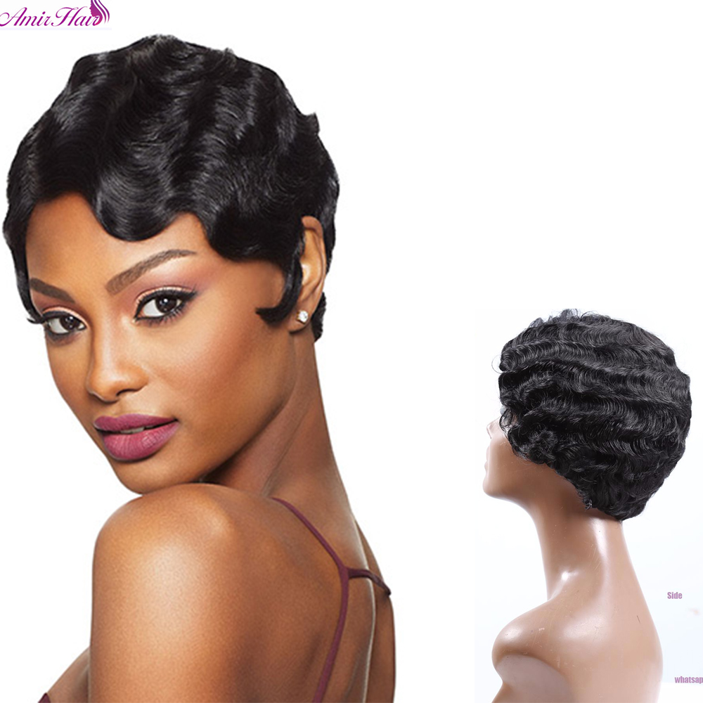 black finger waves hairstyles