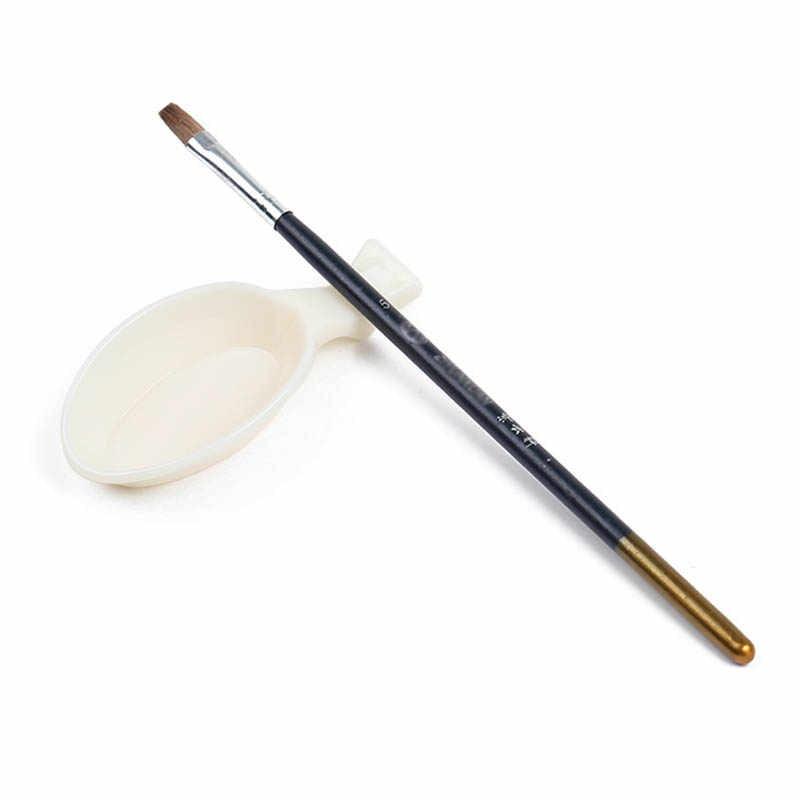 1PC White Artist Watercolor Tray Painting Wash Pen Palette Plastic Color Pallete Nail Polish Set Manicure Nail Kit Auxiliary