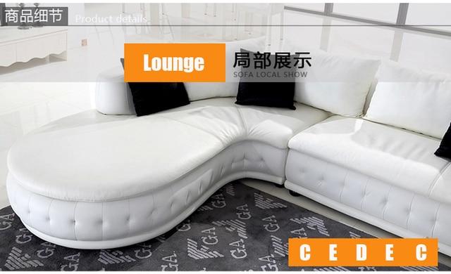 White Leather Living Room Sofa  5