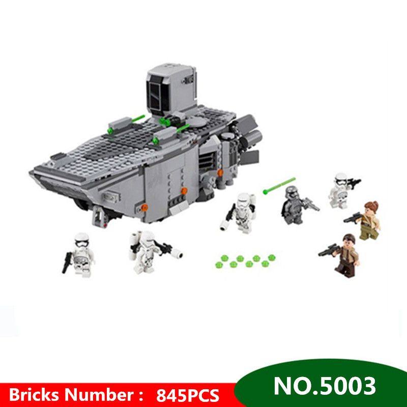 845pcs Diy Star War First Order Transporter Block Set Stormtroopers Captain Phasma Compatible with Legoingly Toy For Children new 845pcs star wars first order transporter model building blocks bricks toys compatible with legoingly starwars children model