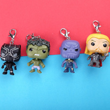 FUNKO POP New Avengers Infinity War Hulk Iron Man Spiderman Thanos Captain America Ant Thor Loki Grooted Action Figures Keychain avengers infinity war iron man captain america thor batman black panther with led light and sound pvc action figures toy box w86
