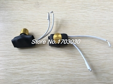 2Pcs Black 2-Wires Gold Tone Rotary Knob Dimmer Switch AC220V 3A