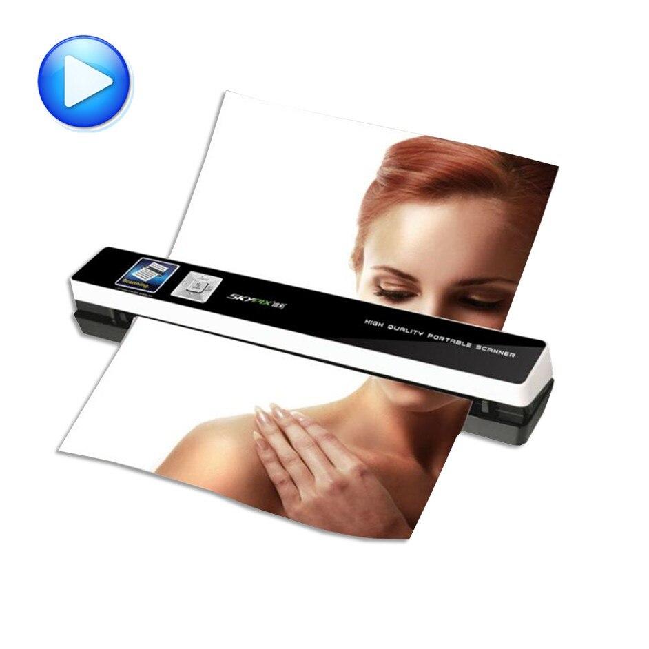 portable scanner skypix TSN480 automatic feeding HD 1200dpi A4 file Automatic photo clipping send otg Data
