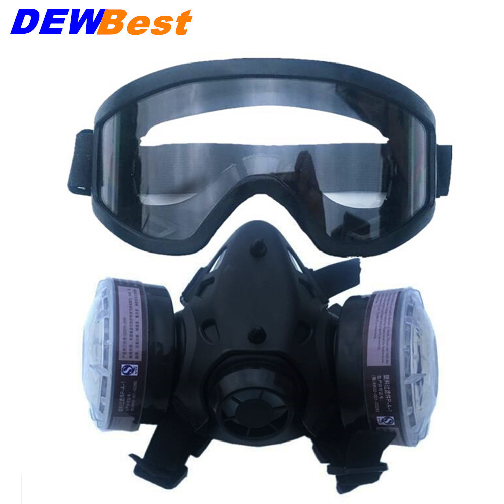 Fire Respirators Steady Industrial Safety 3m7502 Suits Respirator Gas Mask Chemical Mask Spray Chemical Dust Filter Breathe Mask Paint Dust Half Gas Fire Protection