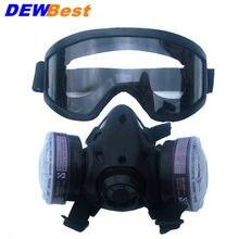 Nouveau Moitié Du Visage Masque À Gaz Avec Anti-brouillard Lunettes N95 Masque  Anti-Poussière Chimiques Filtre Respiratoire Resp. 7c86c5437513