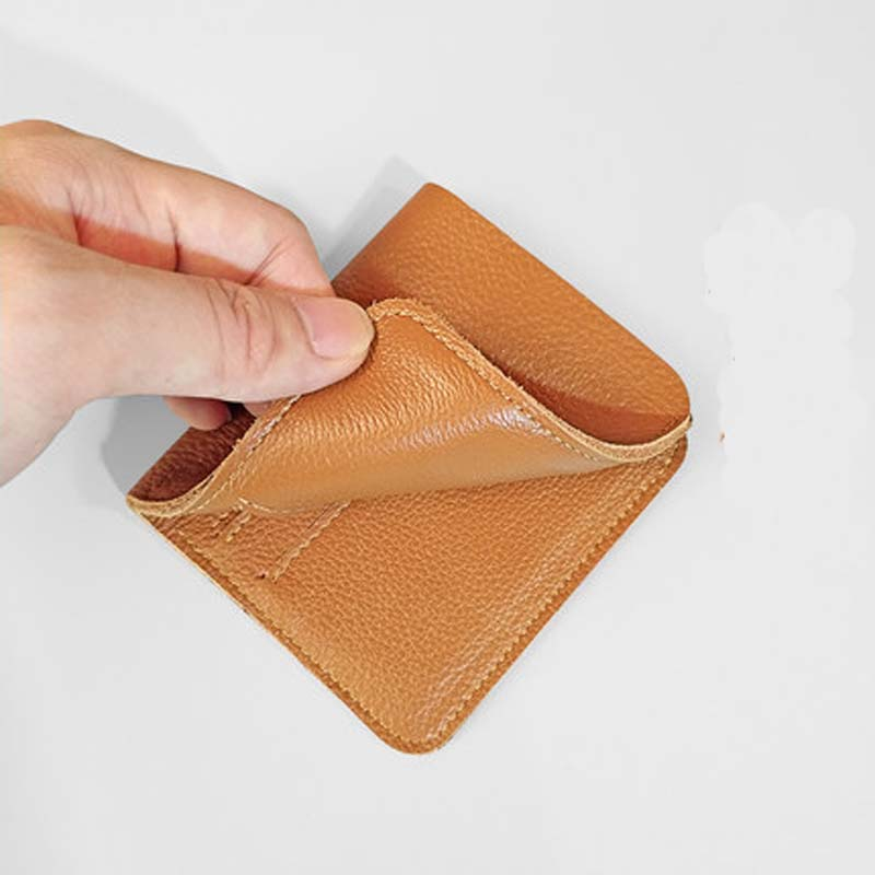 AETOO Original Handmade Leather Short Wallet Retro First Layer Of Leather Wallets Men Women Super Thin Soft Vintage