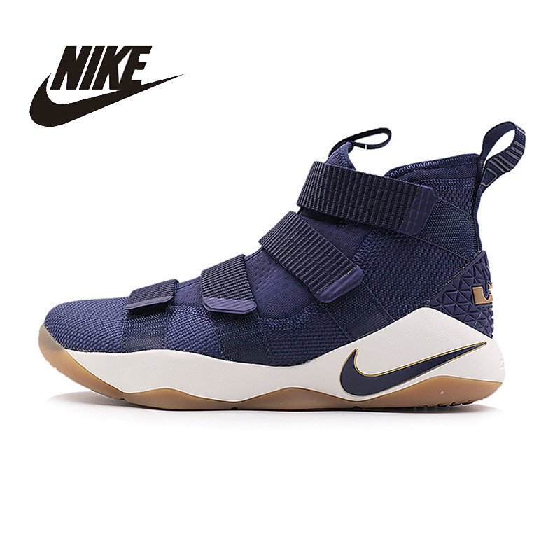 NIKE Original New Arrival Mens LEBRON SOLDIER XI EP Basketball Shoes Breathable High Quality Comfortable For Men#897645  897647