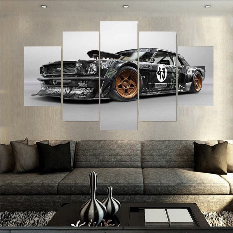 Canvas Printings Ford Mustang Rtr Car Painting Wall Art Home Decoration Poster Canvas Unframed Free Shipping