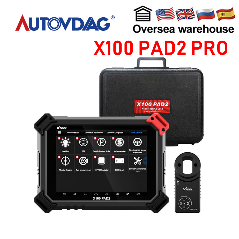 100% XTOOL X100 PAD2 Pro OBD2 Auto Key Programmer EPB TPS DPF Oil Reset OBDII Code Reader OBD 2 Diagnosis tool Car accessories