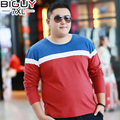 BIG GUY 5XL 6XL 7XL Super Large Size Mens T-shirt Long Sleeve Casual Male T shirts 2017 Spring Autumn Mens Clothing 1382 PZ3