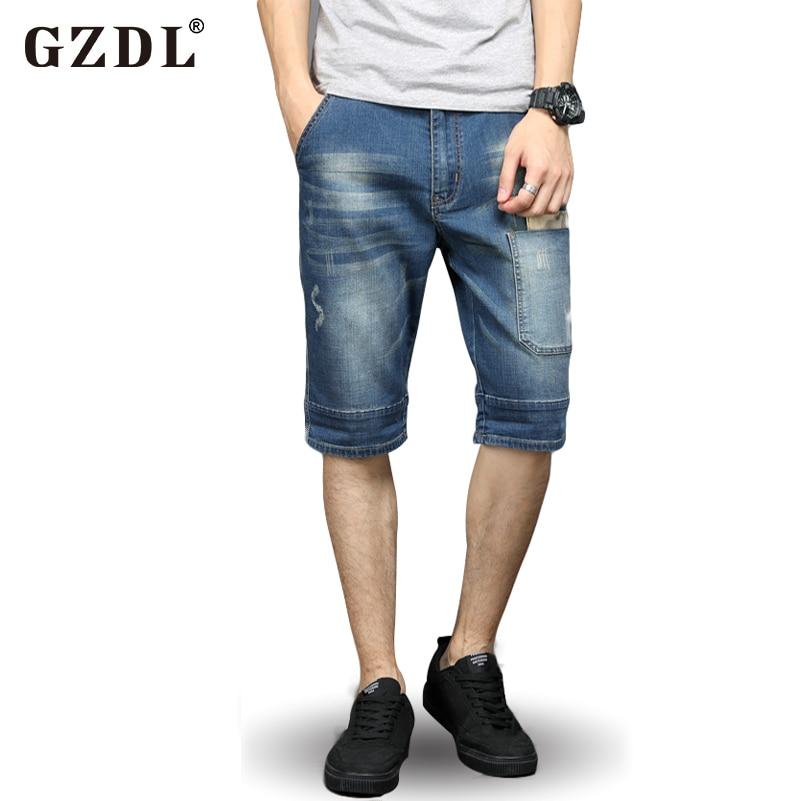 صيف جديد أزياء جينز السراويل مستقيم - ملابس رجالية
